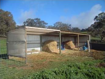 Typical paddock shelters